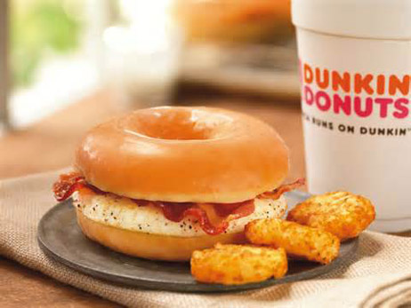 Glazed Donut Breakfast Sandwich from Dunkin' Donuts