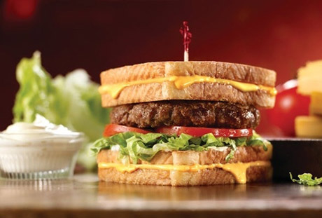 Grilled Cheese Burger Melt from Friendly's